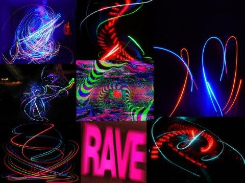 rave lights pattern